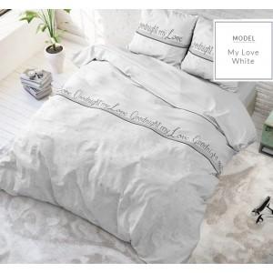 Kvalitné posteľné obliečky s nápismi good night my love