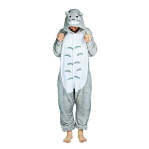 Pyžamové overaly kigurumi v sivej farbe TOTORO