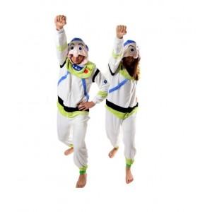 Pohodlné pyžamové overaly kigurumi s motívom astronauta