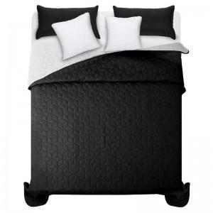 Čierno biely prešívaný prehoz na manželskú posteľ