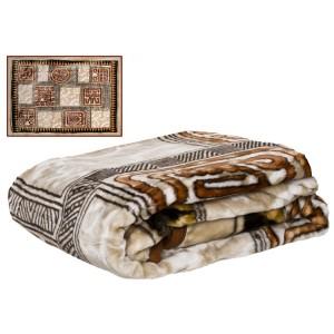 Hnedý prehoz na gauč s motívom egypt