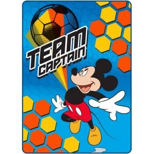 Futbalová detská deka s motívom Mickey mouse