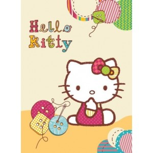 Krémová detská deka Hello kitty