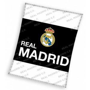 Real Madrid detská deka čierno bielej farby