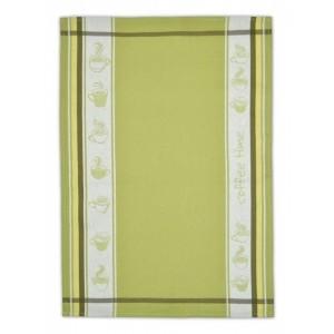 Kvalitná bavlnená kuchynská utierka zelenej farby