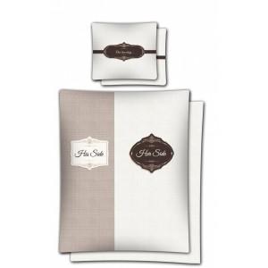 Valentínske posteľné obliečky z bavlny hnedej farby 160x200