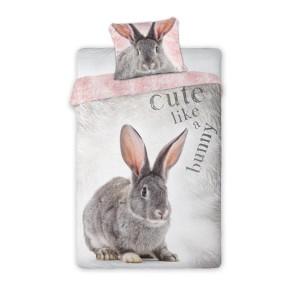 Detské bavlnené posteľné obliečky s motívom zajaca