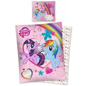 Ružové detské posteľné s motívom rozprávky Little Pony