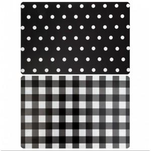 Obojstranné prestieranie na stôl v čiernej farbe