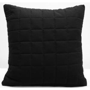 Čierna ozdobná obliečka na vankúš 40x40