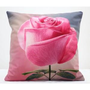 Obliečka na vankúš s motívom ruže
