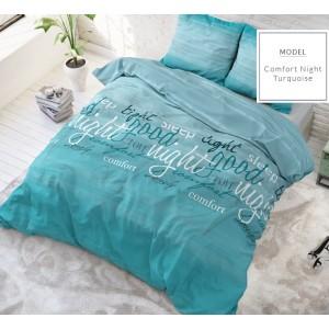 Kvalitné posteľné obliečky tyrkysovej farby