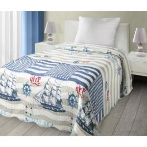 Obojstranný prehoz na posteľ s námorníckym motívom