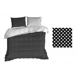 Posteľná bielizeň čiernej farby z bavlny