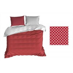 Luxusné obliečky červenej farby z bavlny