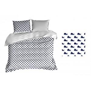 Detské posteľné obliečky bavlnené s veľrybami