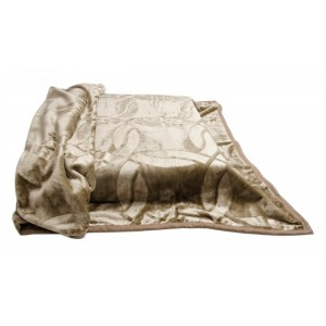 Akrylové deky teplé hnedej farby s potlačou