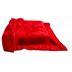 Deky na posteľ akrylové červené