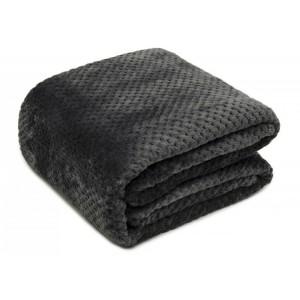 Kvalitné deky tmavo sivej farby