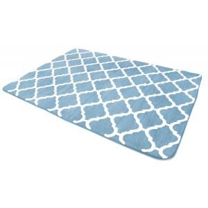 Kvalitné koberce v modrej farbe do spálne