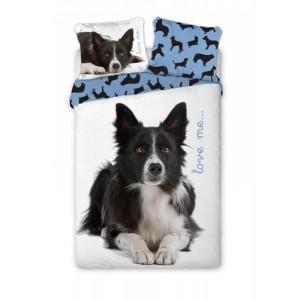 Posteľné prádlo s detským motívom psa