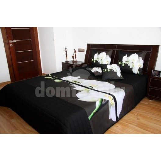 Tmavý prehoz na posteľ 3D 220x240