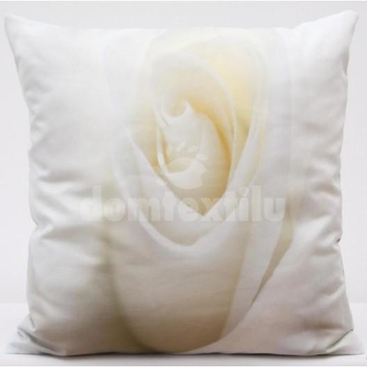 Vankúš biely kvet