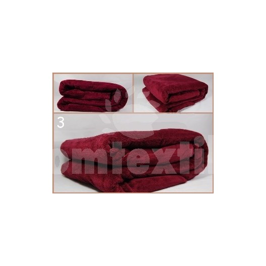 Luxusná deka z mikrovlákna 160 x 210cm bordová č.3