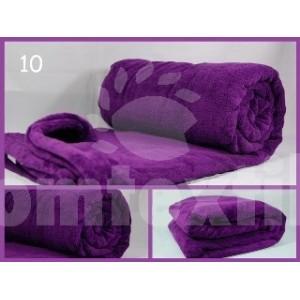Luxusná deka z mikrovlákna 160 x 210cm fialová č.10