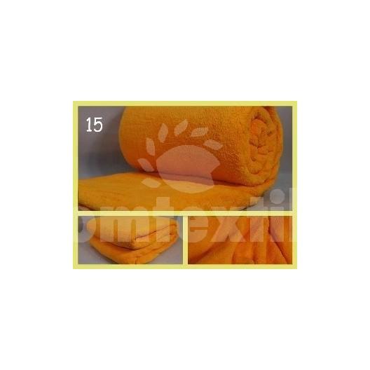 Luxusná deka z mikrovlákna 160 x 210cm žlta č.15