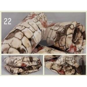 Luxusná deka z mikrovlákna 160 x 210cm kameň č.23