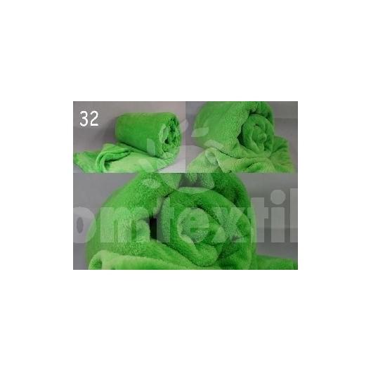 Luxusná deka z mikrovlákna 160 x 210cm zelená tráva č.32