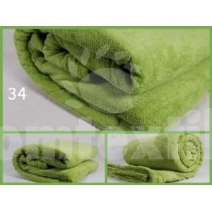 Luxusná deka z mikrovlákna 160 x 210cm zelená č.34