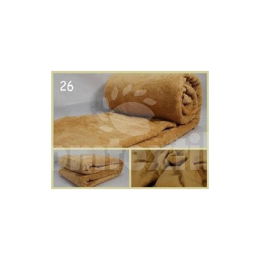 Luxusná deka z mikrovlákna 160 x 210cm  svetlo hneda č.26
