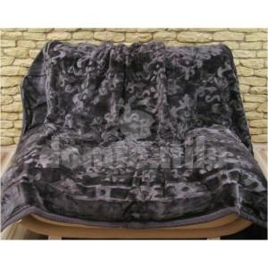 Luxusné deky z akrylu 160 x 210cm cierna c.4