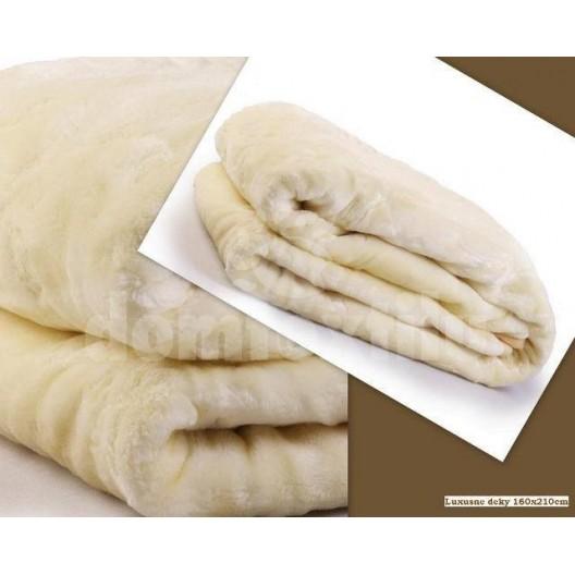 Luxusné deky z akrylu 160 x 210cm biela č.5