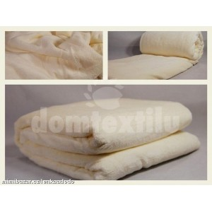 Luxusná deka z mikrovlákna 160 x 210cm ecru č.45