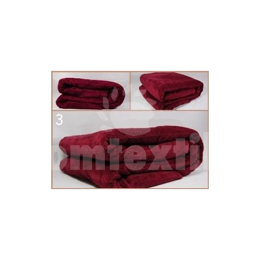 Luxusná deka z mikrovlákna 200 x 220cm bordová č.3