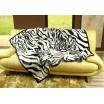 Luxusné deky z akrylu 160 x 210cm zebra č.12