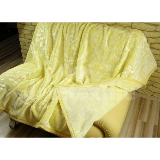 Luxusné deky z akrylu 160 x 210cm žltá č.16