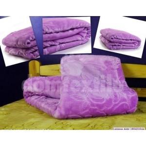 Luxusné deky z akrylu 160 x 210cm fialovlá č.20