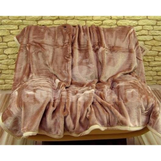 Luxusné deky z akrylu 160 x 210cm hnedá č.25