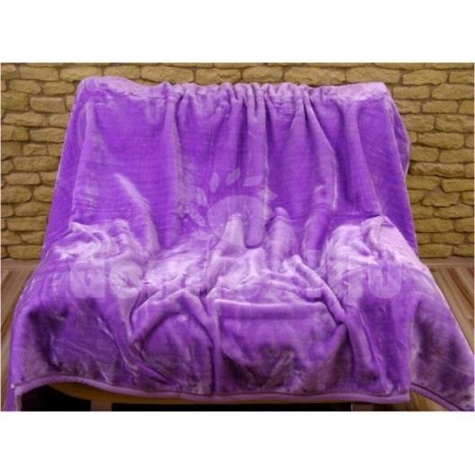 Luxusné deky z akrylu 160 x 210cm fialovlá č.30