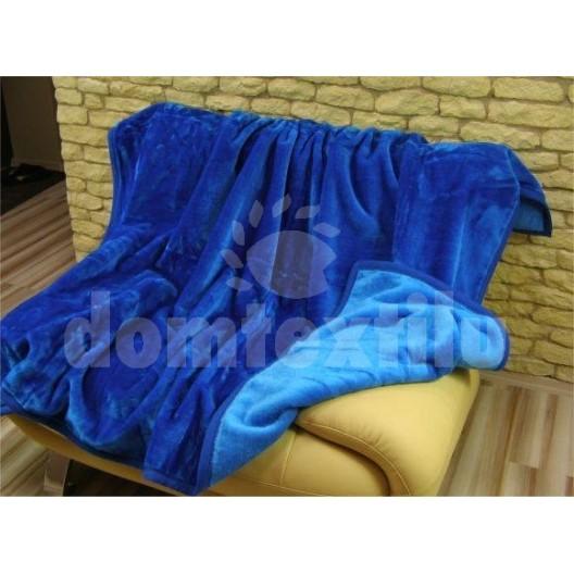 Luxusné deky z akrylu 200 x 240cm modrá č.1