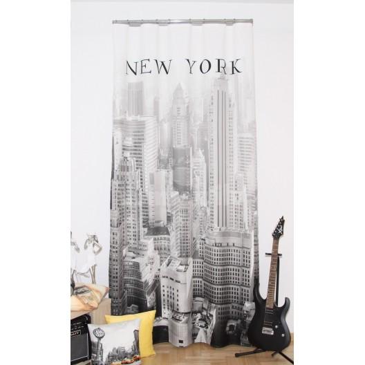 Závesy New York čiernobiele