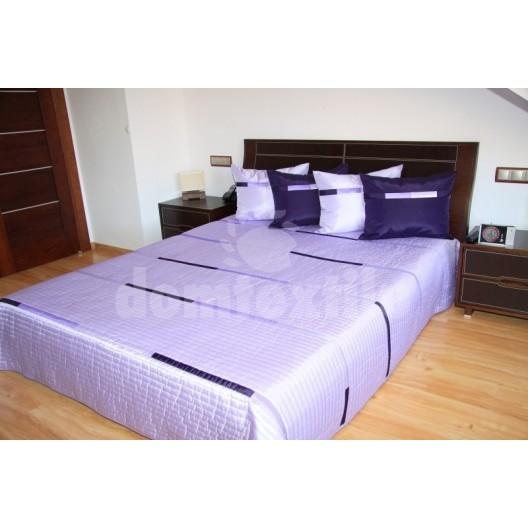 Luxusný prehoz na posteľ s odtieňmi fialovej farby