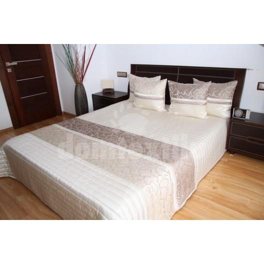 Luxusný prehoz na posteľ svetlo béžový