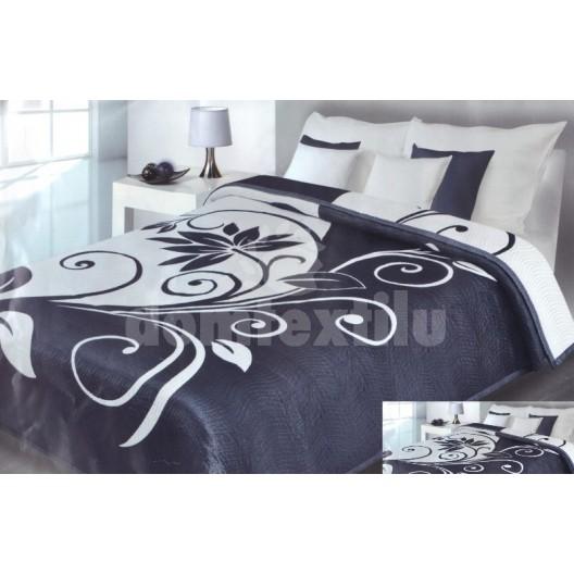 Luxusný obojstranný prehoz na posteľ čierno biely s motívom