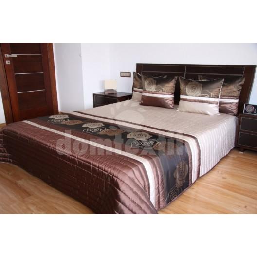 Luxusný prehoz na posteľ béžový s odtieňmi hnedej farby