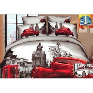 Luxusné posteľné obliečky 100% bavlnený satén s anglickým štýlom